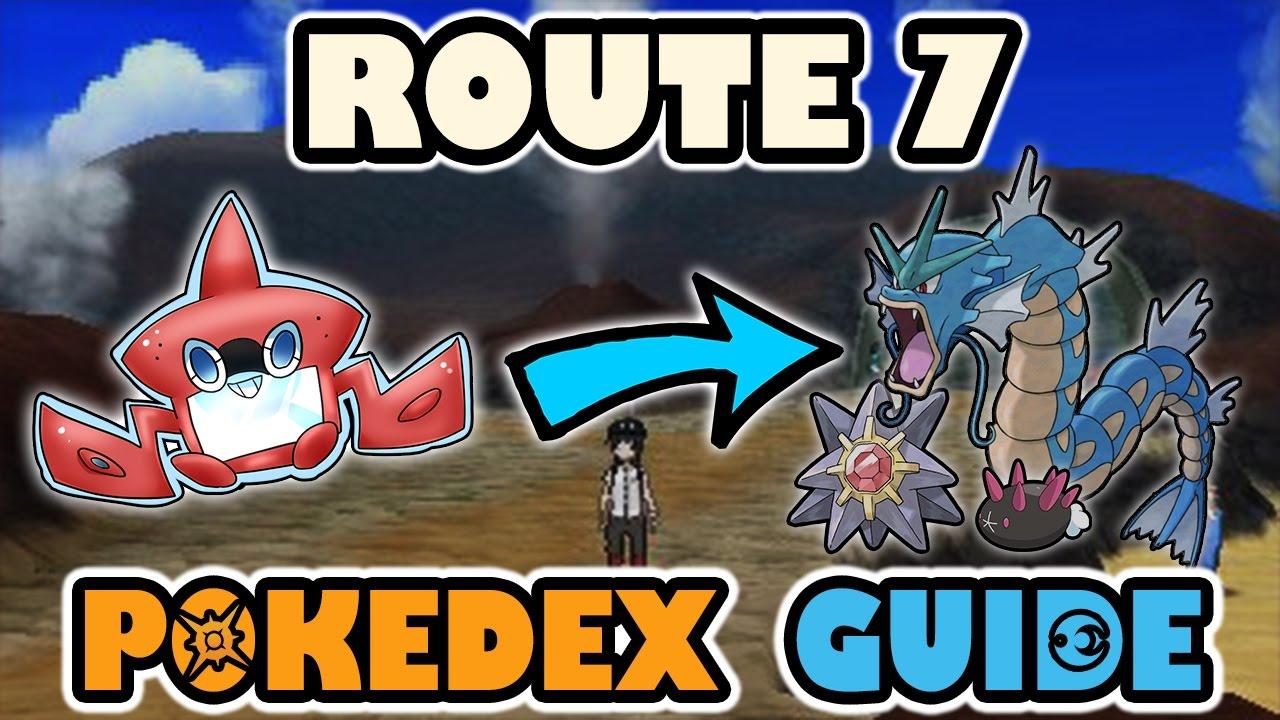 ROUTE 7 COMPLETE POKEDEX GUIDE - Pokemon Sun and Moon