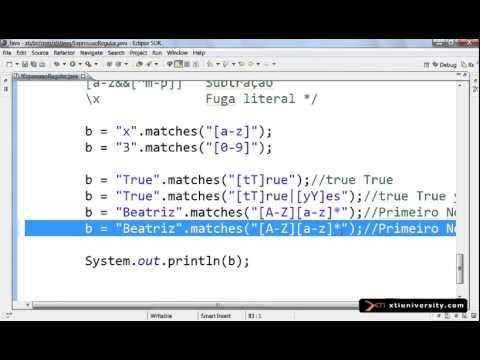 Curso Online: Java - 061 : Regular Expression regex Expressão Regular