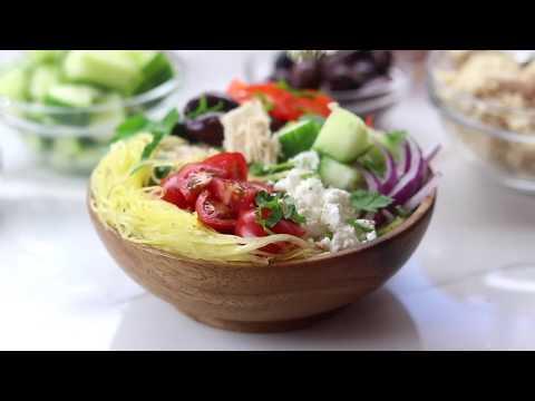 Spaghetti Squash Greek Bowls for Post