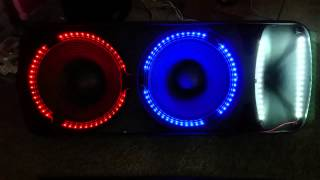 Edison Professional M4000 Speakers With Led Lights