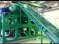 Тестирование оборудования по переработке изношенных шин в крошку в сборочном цеху.