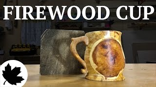 TURN A LOG INTO A CUP