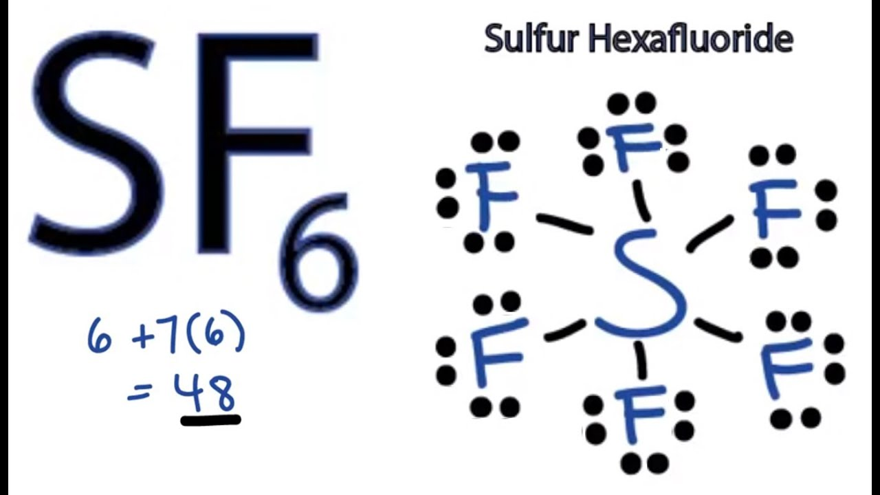sf6 lewis structure how to draw the lewis structure for sf6 youtube rh youtube com SF6 Domains SF4 Lewis Dot Diagram