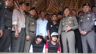 Thai police charge Myanmar men with UK couple murder