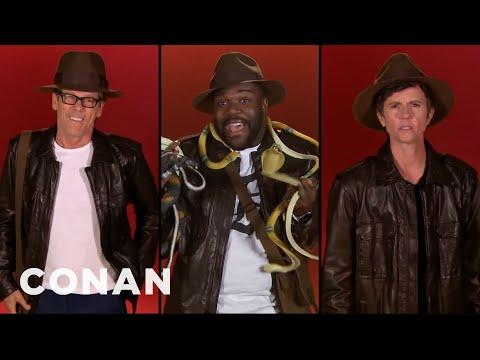 Kevin Bacon, Billy Eichner, and Don Cheadle audition for Indiana Jones in Conan sketch