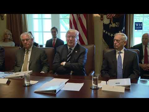 President Trump Holds a Cabinet Meeting