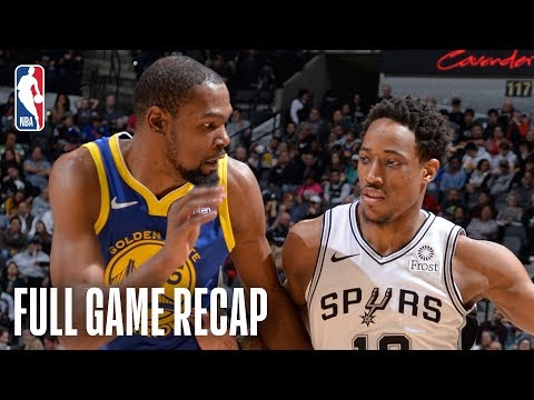 Sports Desk - Watch highlights of the Spurs victory over the Warriors