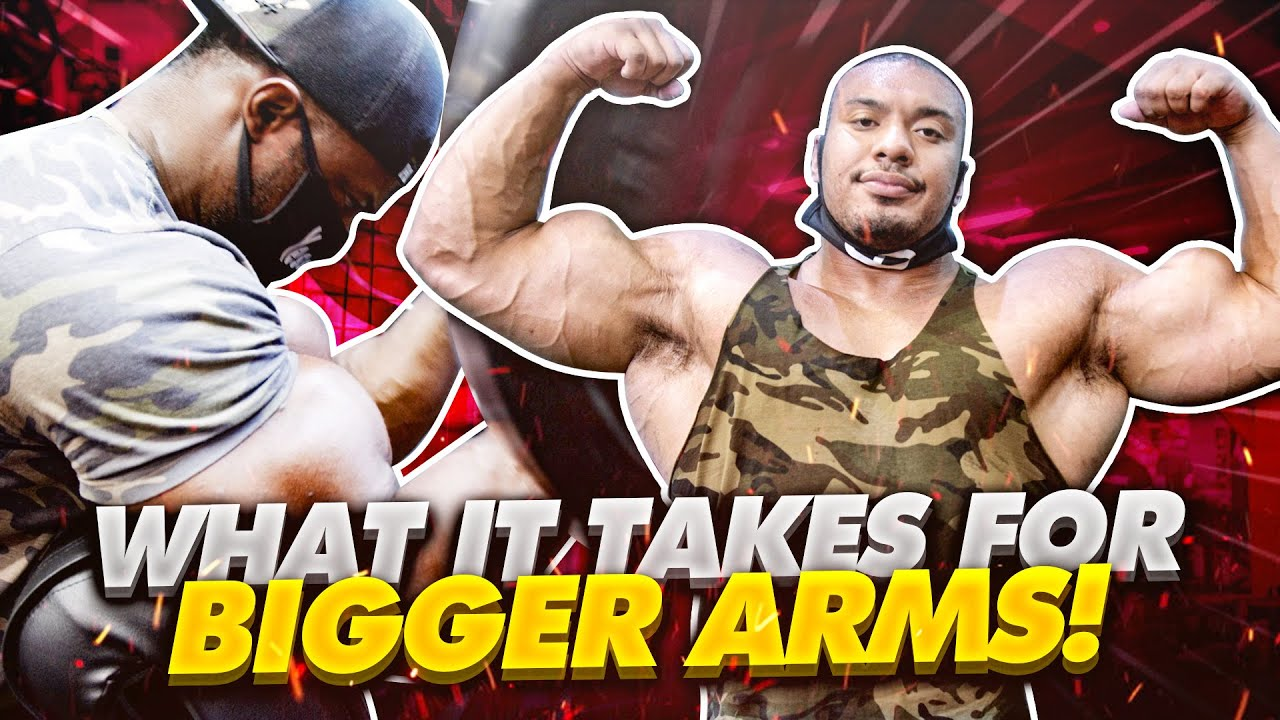 WHAT IT TAKES FOR BIGGER ARMS!