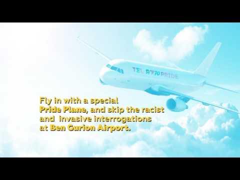 Fly in with Pride Plane, and Skip Racist Interrogation - Boycott Tel Aviv Pride