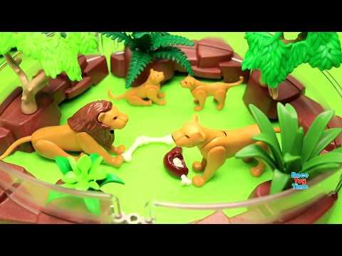 Huge Playmobil Animal Zoo Building Sets - Fun Animals Toys For Kids