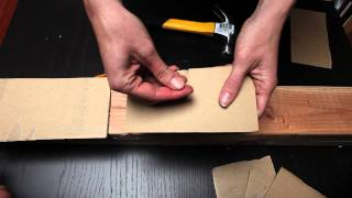Hammer Nails Safely With Cardboard