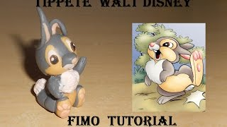 FIMO tutorial  Thumper / Tippete / Tamburino  Walt Disney Bambi Le mie prime creazioni !