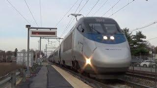 Amtrak & MBTA Trains at Mansfield, MA