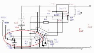 видео Высоковольтный стабилизатор на ОУ
