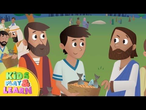 Jesus Feeds 5000 - Bible For Kids