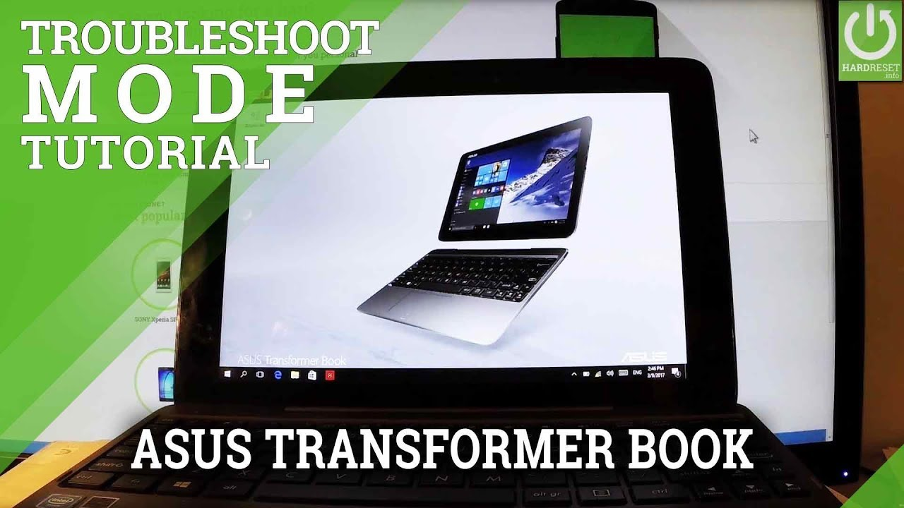 asus transformer book t101ha boot menu