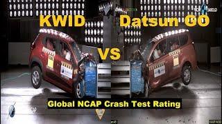 Renault Kwid VS Datsun Go Crash Test Rating