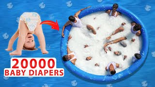 We Made Snow Pool Using ₹200000 Rupees Baby Diapers