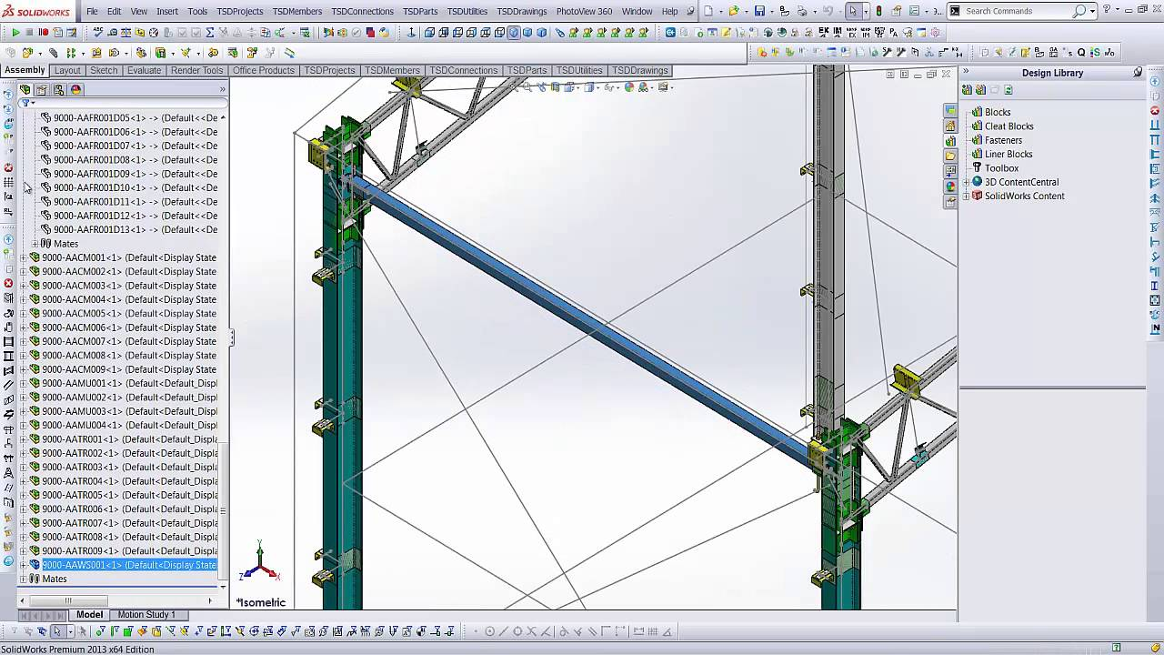 Buildings - 3D Steel Framed Building Model Automation - YouTube
