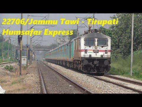 22706/Jammu Tawi - Tirupati Humsafar Express at Ludhiana Railway Station