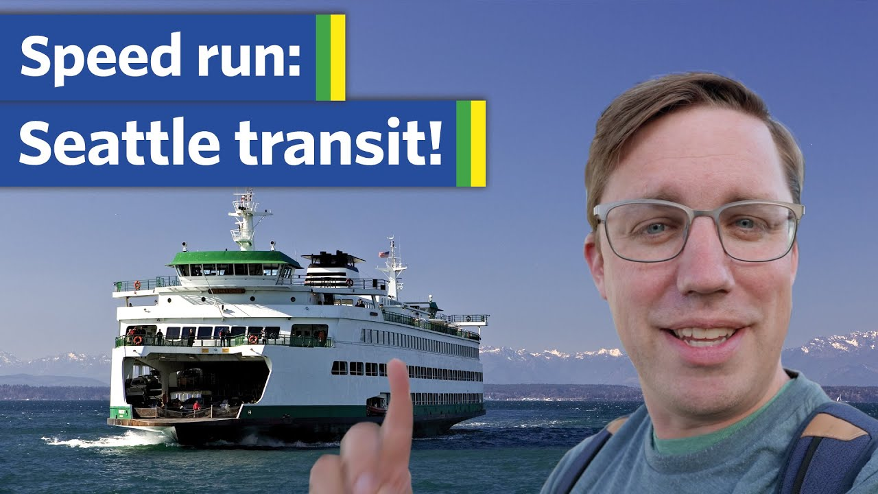 I rode ALL kinds of Seattle transit in 4 hours (even the monorail)