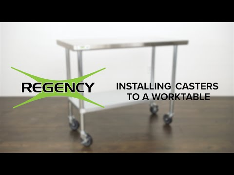 How To Install Casters On A Stainless Steel Work Table