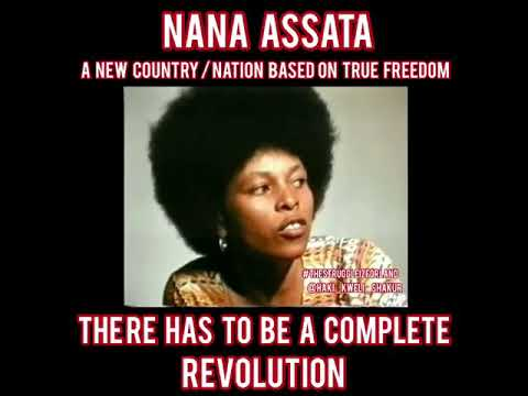 Assata Shakur Aspirations of a New Afrikan Nation with True Freedom, There Has to Be a Revolution
