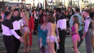 Chaka Khan filming Dancing With The Stars flashmob on Hollywood Blvd in Hollywood