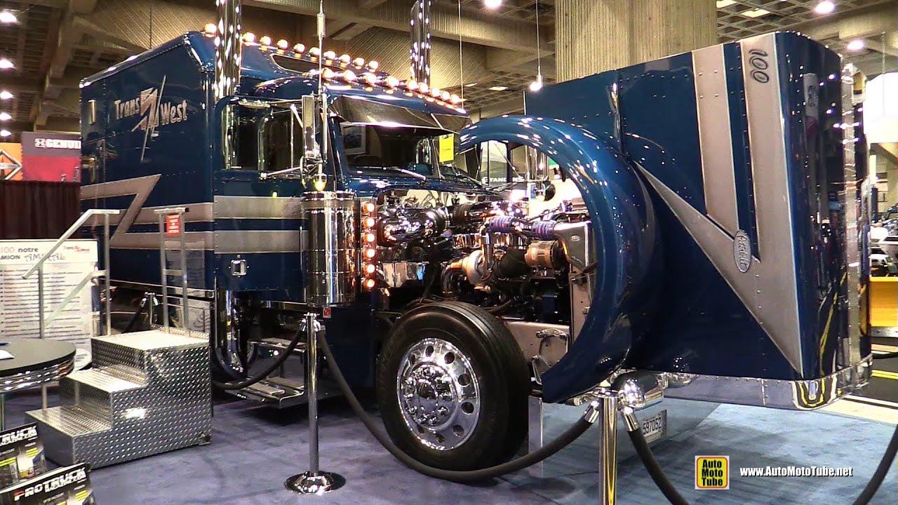 1995 trans west amiral custom truck peterbilt 379 with caterpillar c15 550hp engine