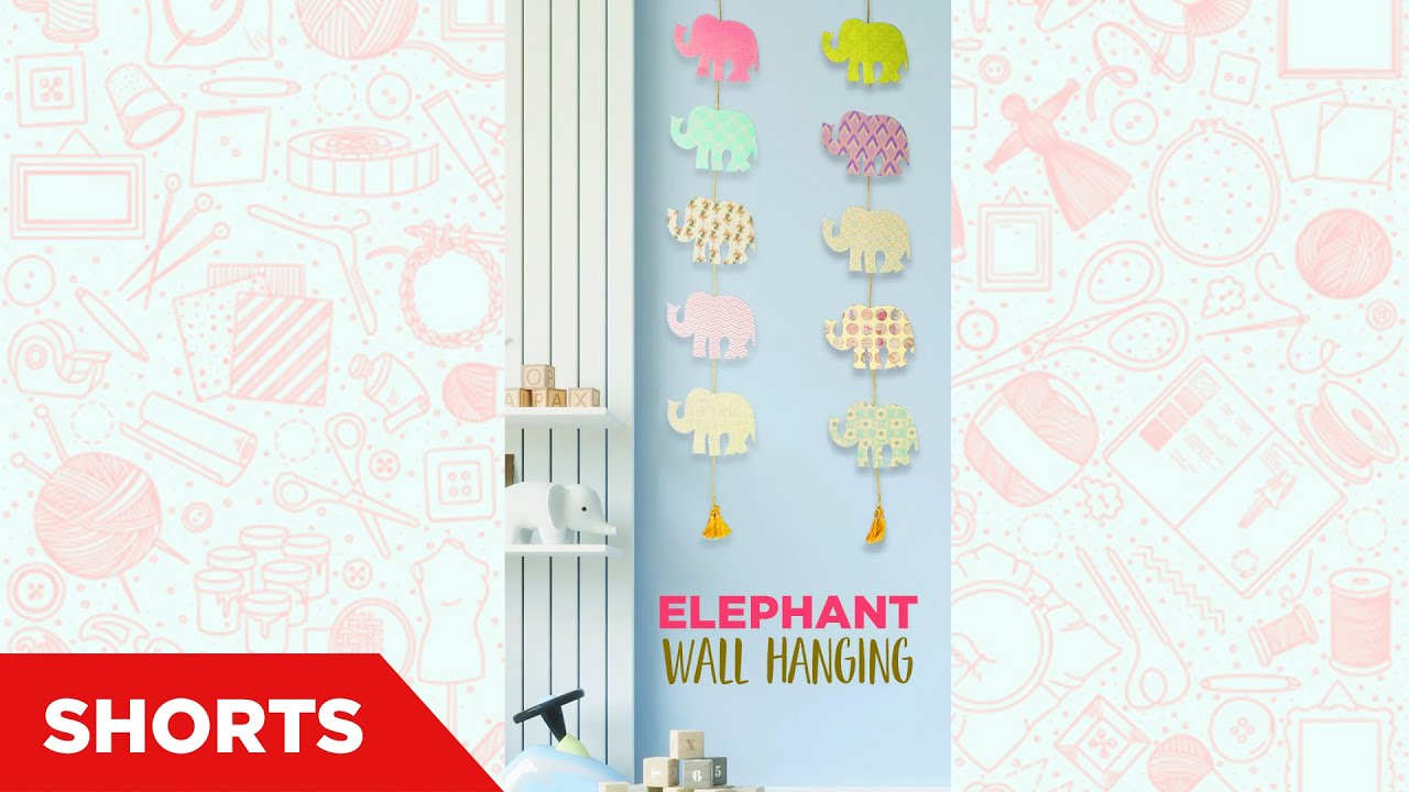 Elephant Wall Hanging   DIY Wall Hanging   Kids craft ideas   Paper crafts   Room decoration #shorts