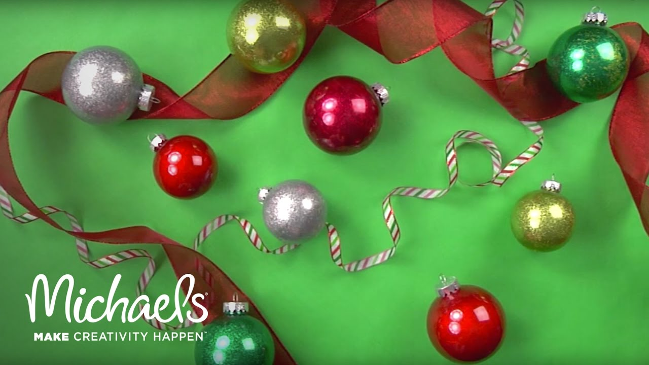Design your own christmas ornaments - Create Your Own Holiday Glitter Ornament Michaels