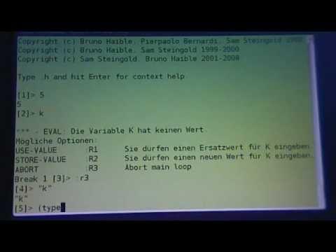 Common Lisp Tutorial, Teil 1