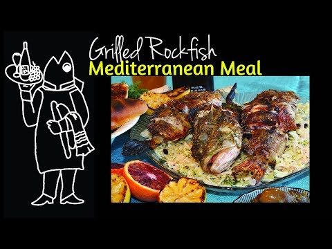 Need A Rockfish Recipe?😆Whole Grilled Rockfish With Cabbage Salad Mediterranean Recipe!