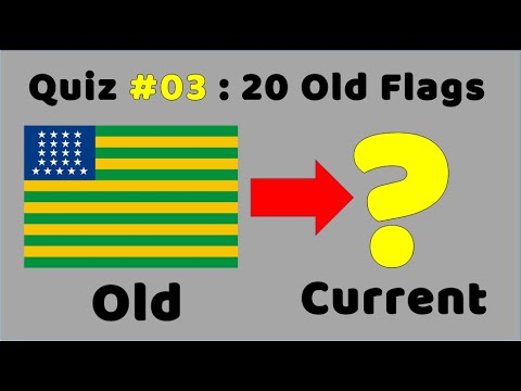Old Flags Quiz (Part 3) Can You Name The Countries From Their Old Flags?