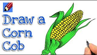 How to draw an Ear of Corn Real Easy