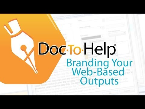 Doc-To-Help Summer School: Branding Your Web-based Outputs