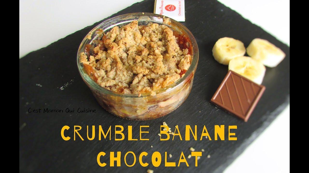 Le Crumble Banane Chocolat Un Dessert Reconfortant Facile Et