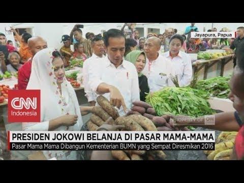 Presiden Jokowi Belanja di Pasar Mama-Mama