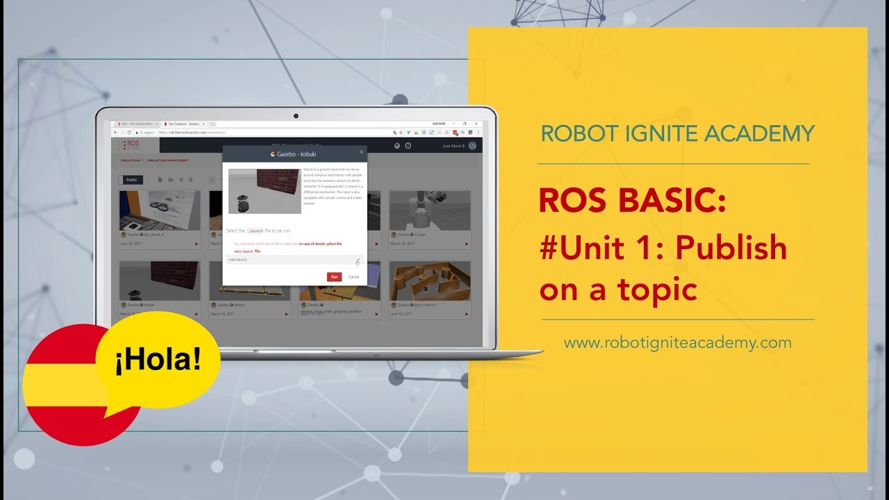 [ROS Tutorials Español] ROS Basics: Publish on a Topic   Ep 1