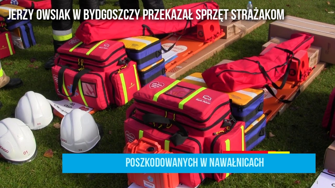 Jerzy Owsiak w Bydgoszczy przekazał sprzęt strażakom