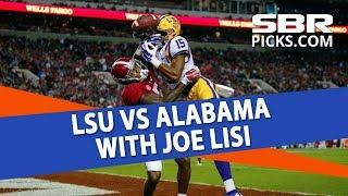 Free College Football Picks   LSU vs Alabama   Week 10 Betting Previews With Joe Lisi