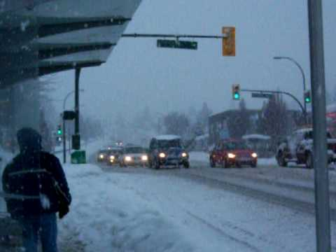 -Vancouver dumped with a substantial amount of snow