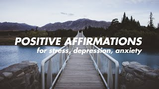 positive affirmations SOFT SPOKEN for stress, anxiety, depression (with rain sounds)