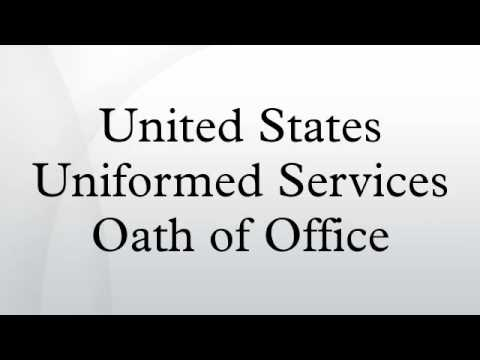 United States Uniformed Services Oath of Office