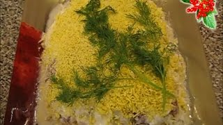 """How To Cook Layered Salad """"mimosa"""" - Layered Salad Recipe Video Tutorial"""