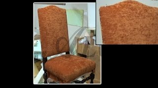 HOW TO UPHOLSTER THE BACK OF A CHAIR - ALO Upholstery
