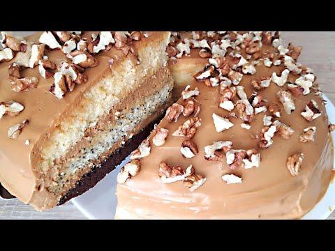 Очень Вкусный Королевский Торт. Бисквитный Торт со Сгущёнкой.