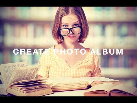How do you make an album in iphoto