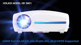 Holkoi New Hawk Series 4K smart LED  Projector  HD5801