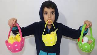 Easter Egg hunt Surprise Toys for Kids Pretend Play